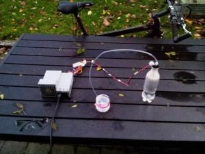 Hydrogen Oxygen splitting setup