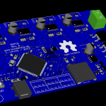 3DPCB 3D Image from KiCAD