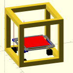 OpenSCAD render of what my printer looks like
